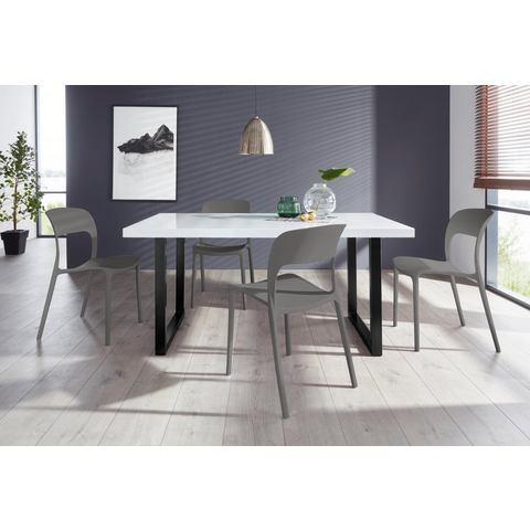 Eethoek Manger-Florian 180 met 4 stoelen, tafel breedte 180 cm
