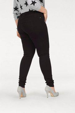 only carmakoma jeansjeggings zwart