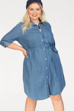 levi's plus jeansjurk »plus size bebe dress« blauw