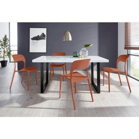 Eethoek Manger-Florian 160 met 4 stoelen, tafel breedte 160 cm