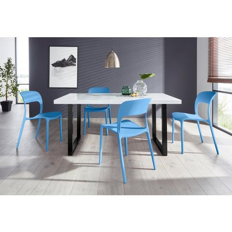Eethoek Manger-Florian 140 met 4 stoelen, tafel breedte 140 cm