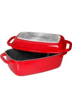 stoneline braadpan (1-delig) rood
