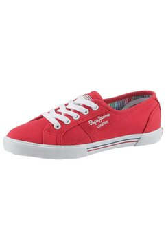 pepe jeans sneakers »aberlady basic« rood