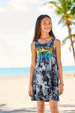 chiemsee jurk »regenboogprint« zwart