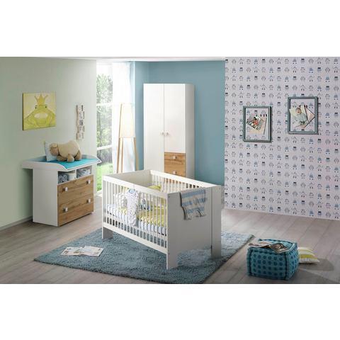 Babykamer voordeelset 3-delig Hiddensee ledikantje + commode + 2-deurskast