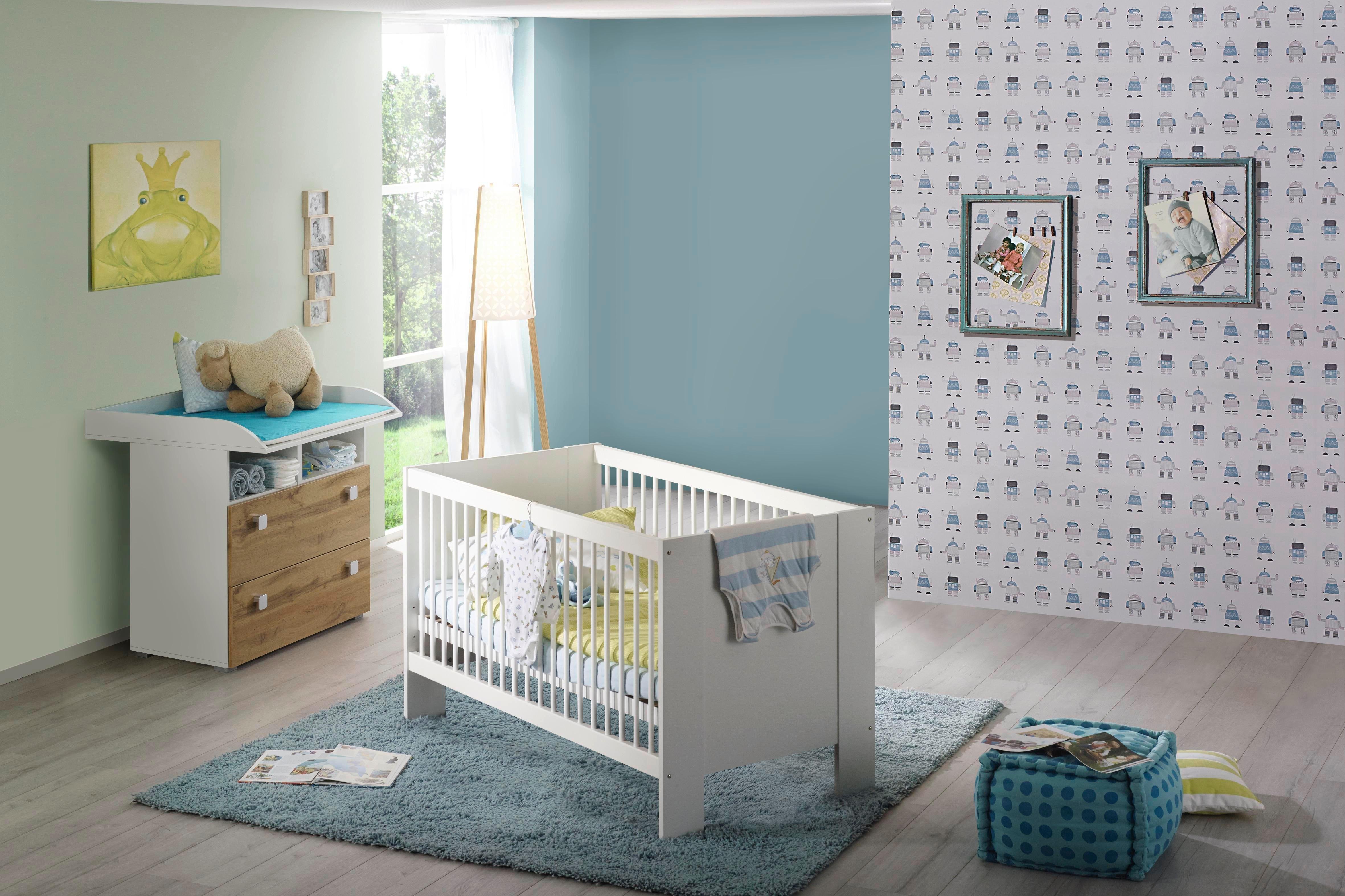 2 Delige Babykamer.Babykamer Voordeelset 2 Delig Hiddensee Ledikantje Commode