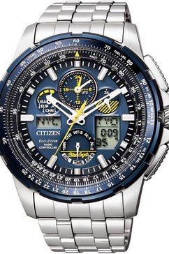 citizen radiografische chronograaf »promaster blue angel, jy8058-50l« zilver