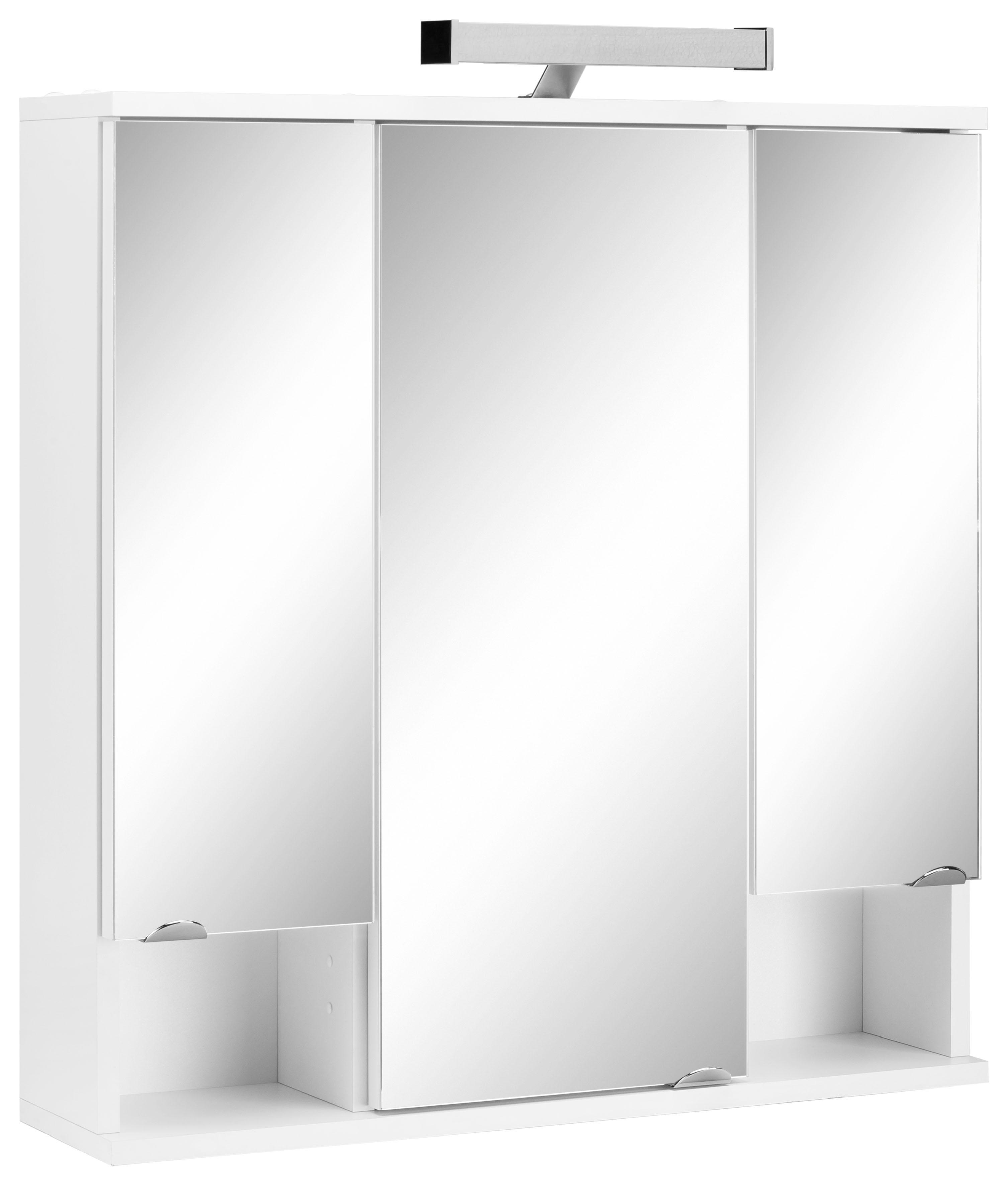 Schildmeyer spiegelkast Cadi Breedte 67 cm, 3-deurs, ledverlichting, schakelaar-/stekkerdoos, glasplateaus, Made in Germany online kopen op otto.nl