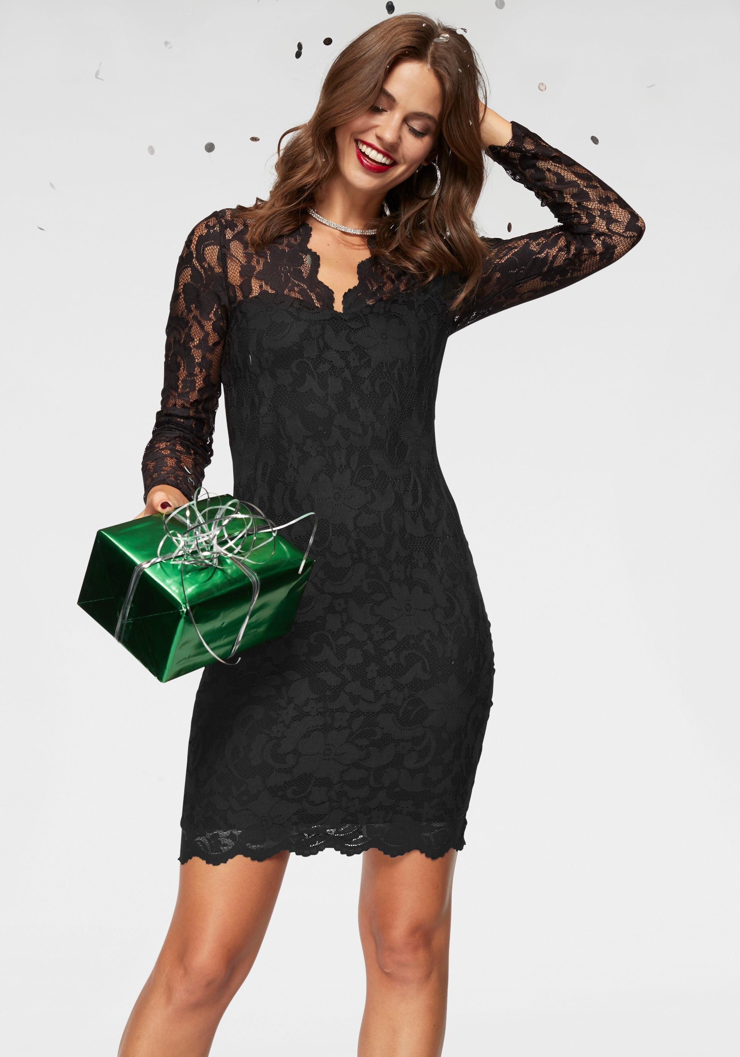 Laura Scott kanten jurk Body ondoorzichtig gevoerd veilig op otto.nl kopen