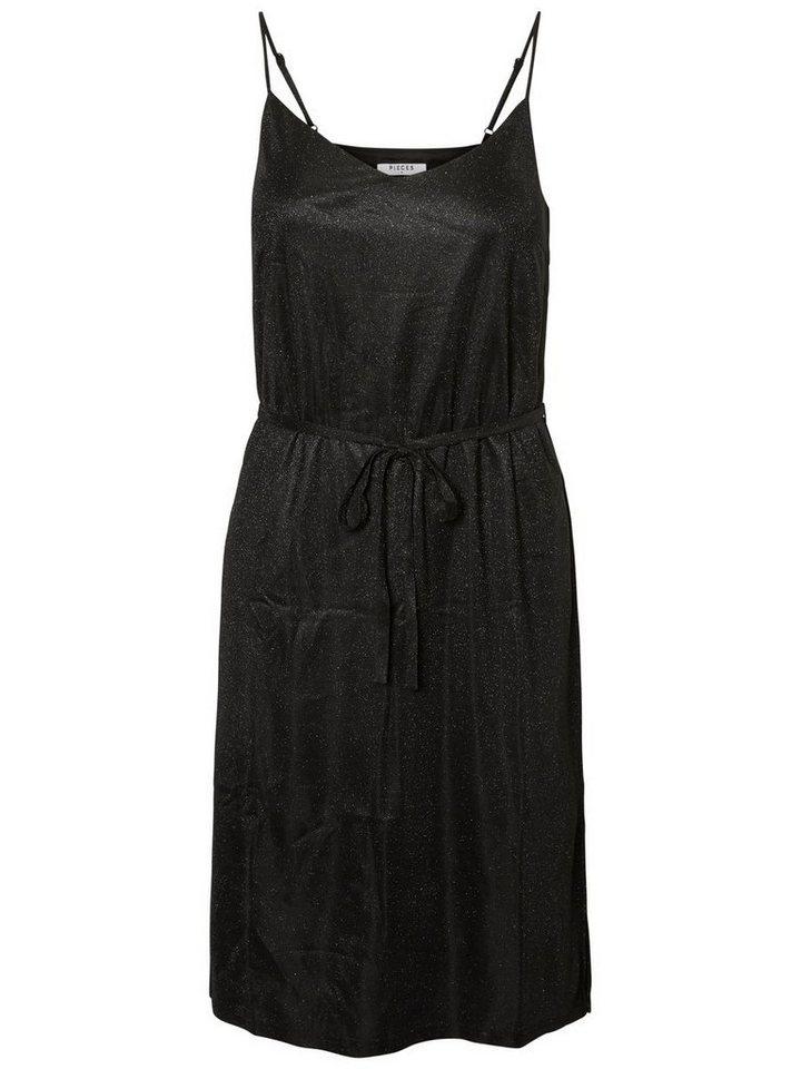 Pieces Midi- jurk zwart