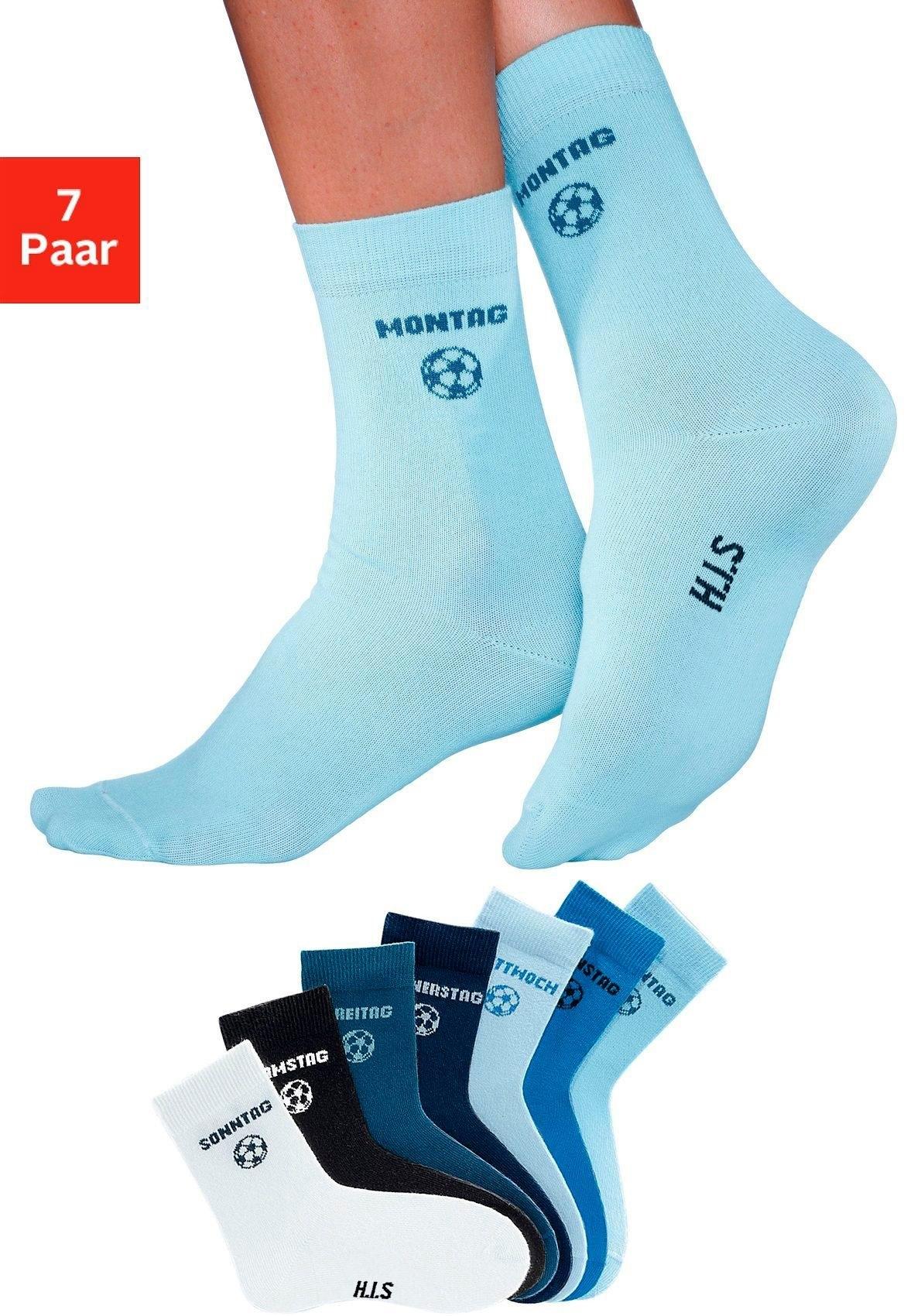 H.I.S kindersokken voor elke dag van de week (7 paar) met voetbalmotief veilig op otto.nl kopen