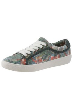 pepe jeans plateausneakers »rene jungle« blauw