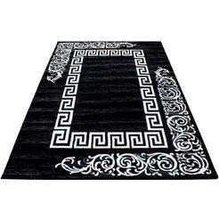 ayyildiz teppiche vloerkleed miami 6620 korte pool, woonkamer zwart