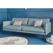 couch 3-zitsbank »levon« in moderne look, met metalen poten blauw