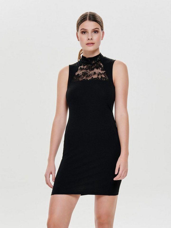 ONLY Opstaande kraag Mouwloze jurk zwart