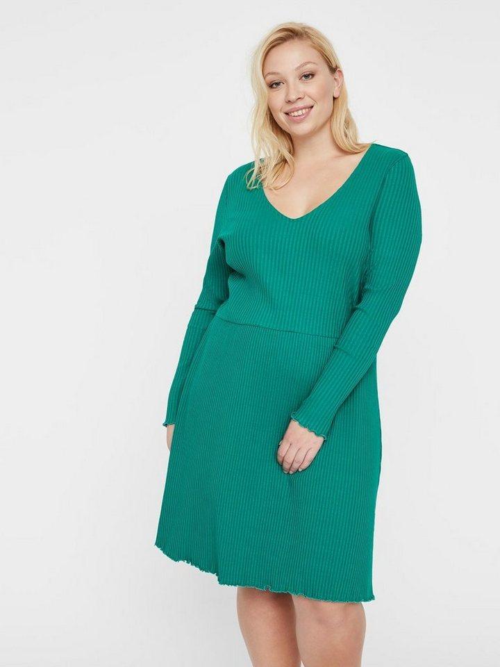 Junarose Geribde jurk groen