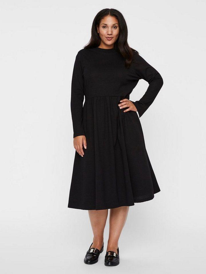 Junarose Elegante midi jurk zwart