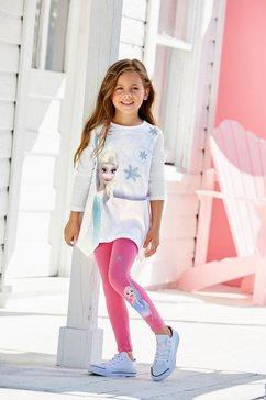 disney frozen shirt  legging elsa met frozen-motief (set, 2-delig) wit
