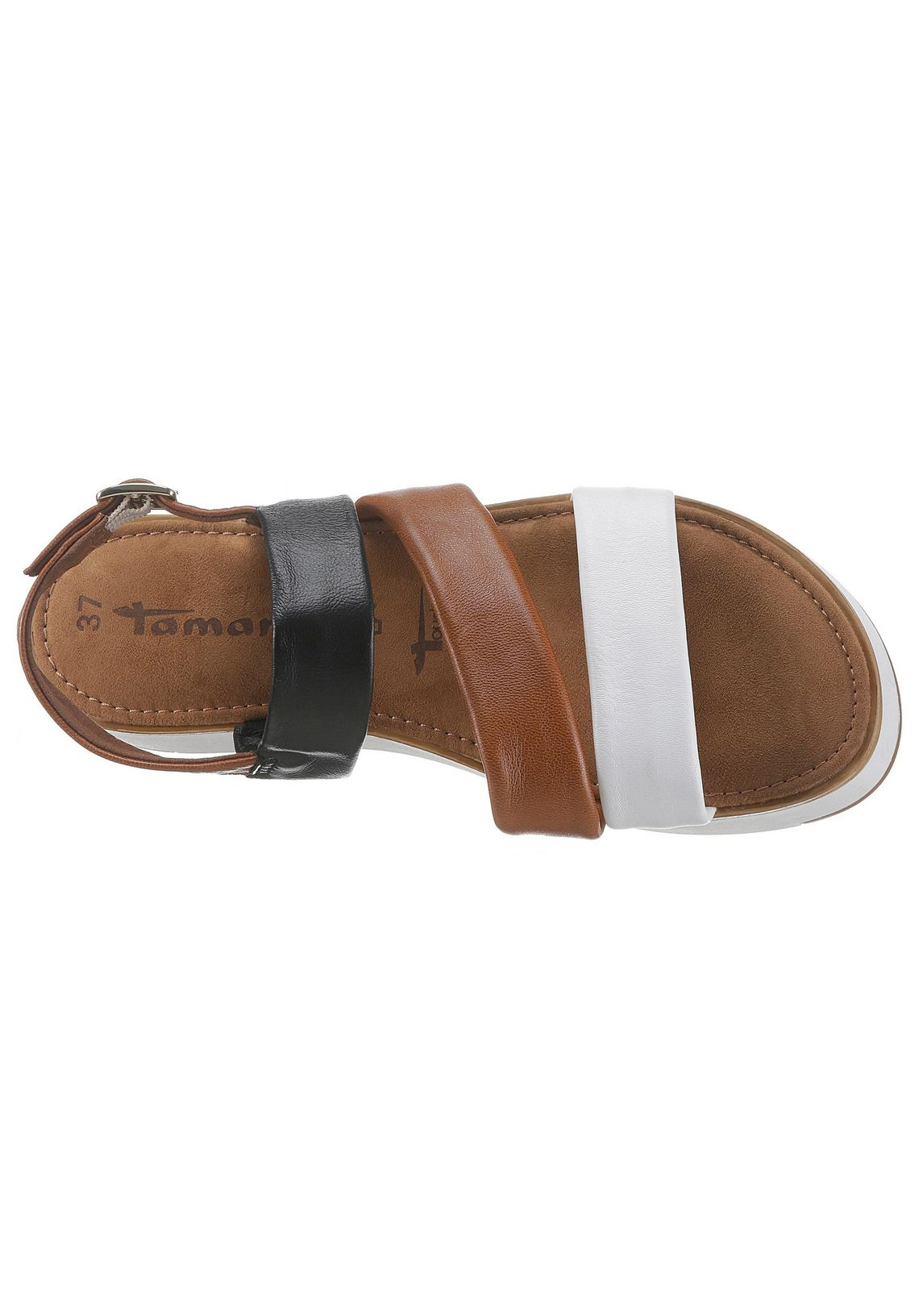 Tamaris plateausandalen online shop  bruin/wit/zwart