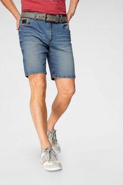 arizona jeansshort met wassing blauw