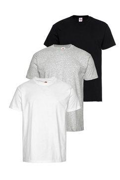 t-shirt, set van 3, fruit of the loom wit