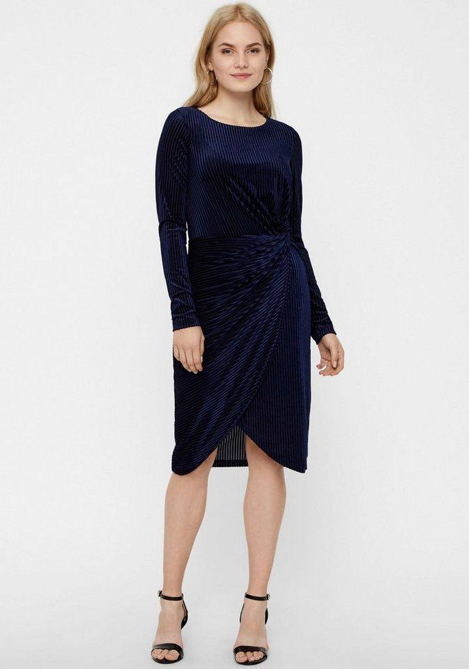 Vero Moda fluwelen jurk ELLA blauw
