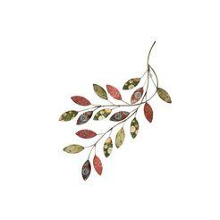 locker sierobject voor aan de wand tak wanddecoratie, van metaal groen