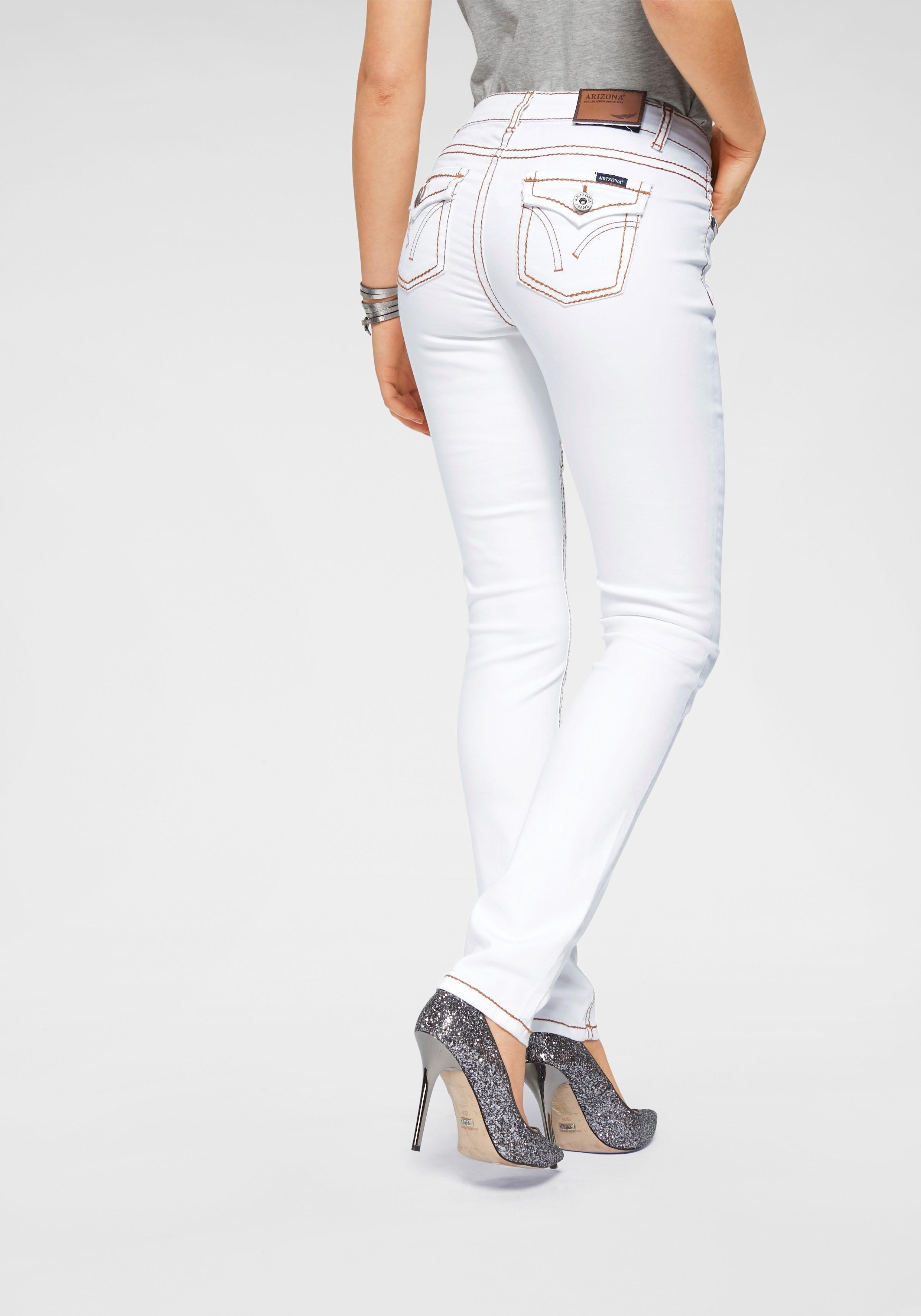 ARIZONA Skinny-jeans met contrastnaden - gratis ruilen op otto.nl