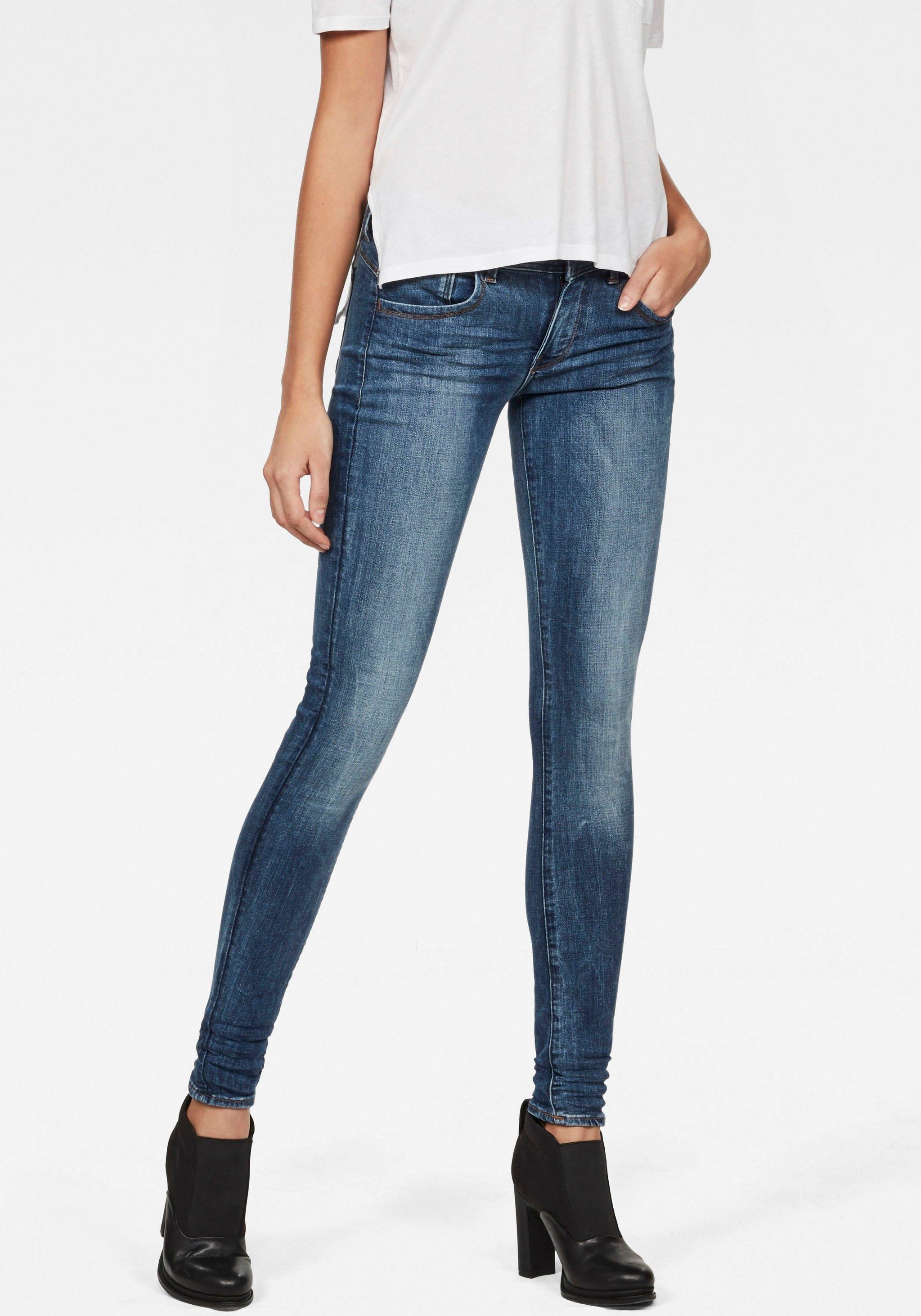 G-Star RAW skinny fit jeans Lynn D-Mid Waist Super Skinny elegante variant van de klassieke 5-pocket jeans - verschillende betaalmethodes
