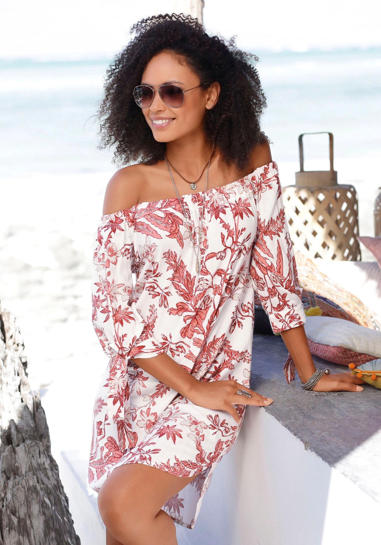 LASCANA blousejurk met bloemenprint in de webshop van OTTO kopen