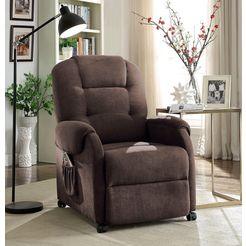 atlantic home collection relaxfauteuil, met binnenvering bruin