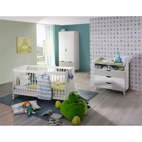 Babykamer voordeelset 3-delig Danzig, ledikantje + commode + 2-deurskast