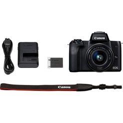 canon »eos-m50 ef-m15-45 kit« systeemcamera (ef-m 15-45, 24,1 mp, nfc wifi bluetooth) zwart