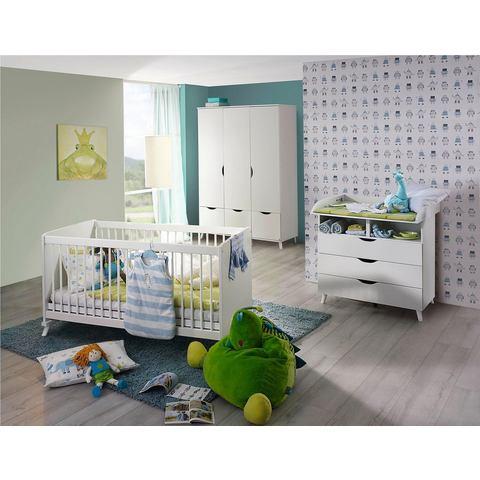 Babykamer voordeelset 3-delig Danzig, ledikantje + commode + 3-deurskast