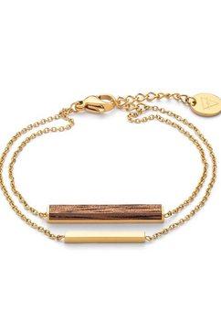 kerbholz armband »rectangle bracelet, georec8170« bruin
