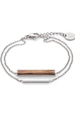kerbholz armband »rectangle bracelet, georec8958« bruin