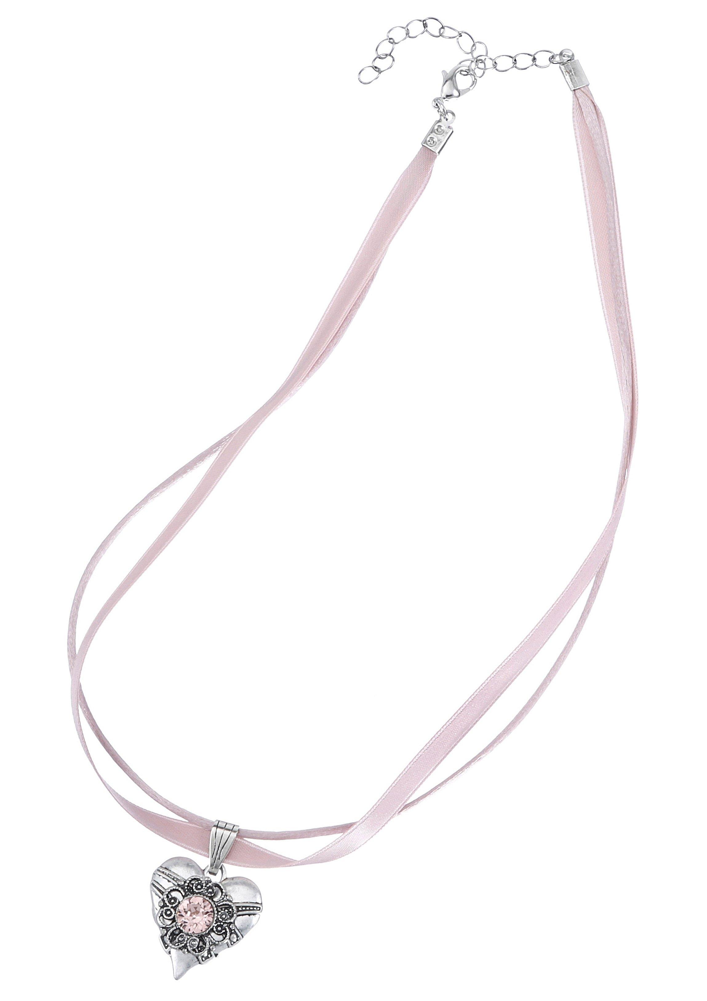 Op zoek naar een Lusana folklore-ketting dames met metalen harthanger? Koop online bij OTTO