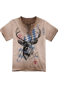 hangowear folklore-kindershirt in used-look bruin