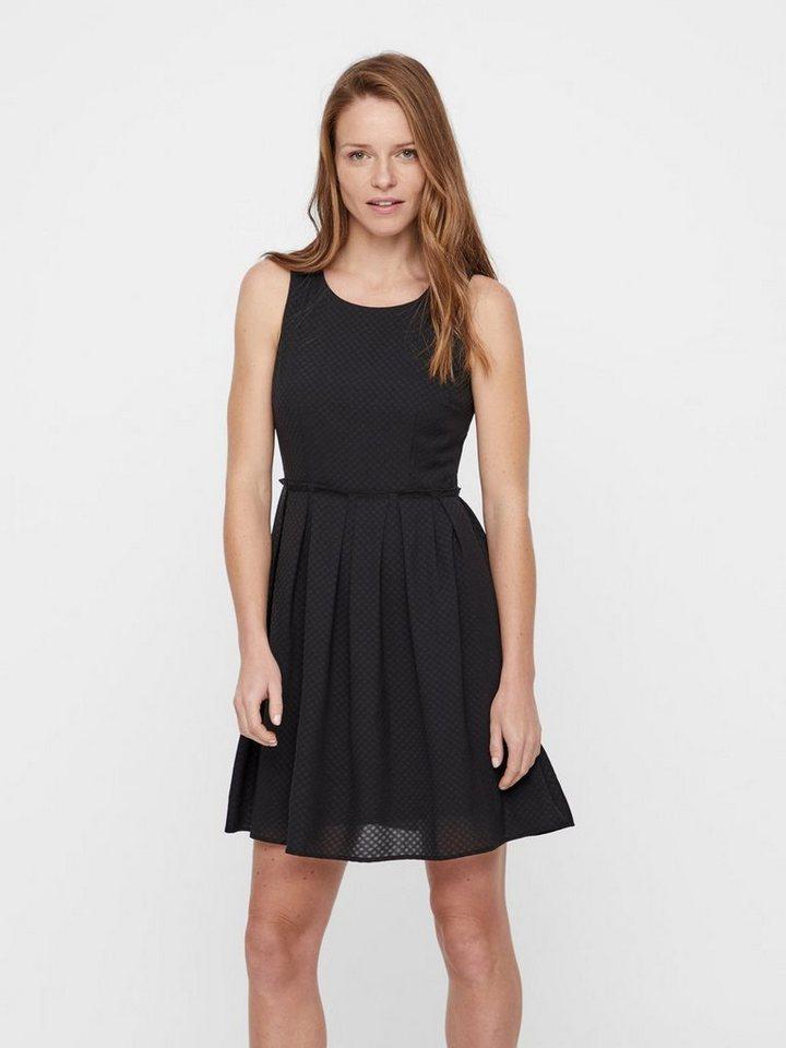 Vero Moda Ronde hals Mouwloze jurk zwart