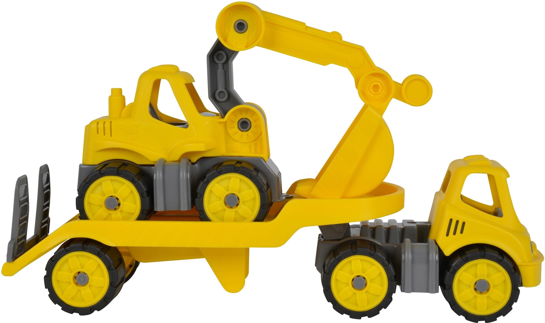 Op zoek naar een Big speelgoedauto, »BIG Power Worker Mini Transporter en Graafmachine geel« (2-dlg.)? Koop online bij OTTO