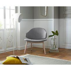 andas fauteuil »sporring« met onderstel van massief essenhout, design by morten georgsen grijs