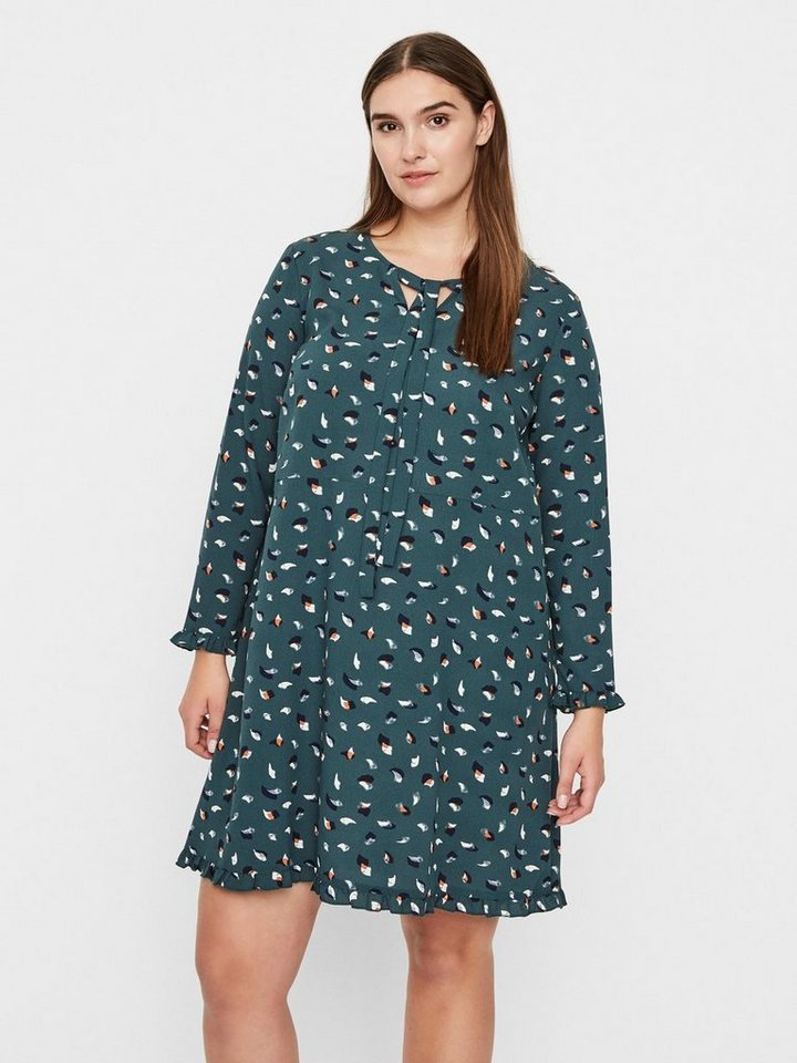 Junarose Bedrukte jurk groen