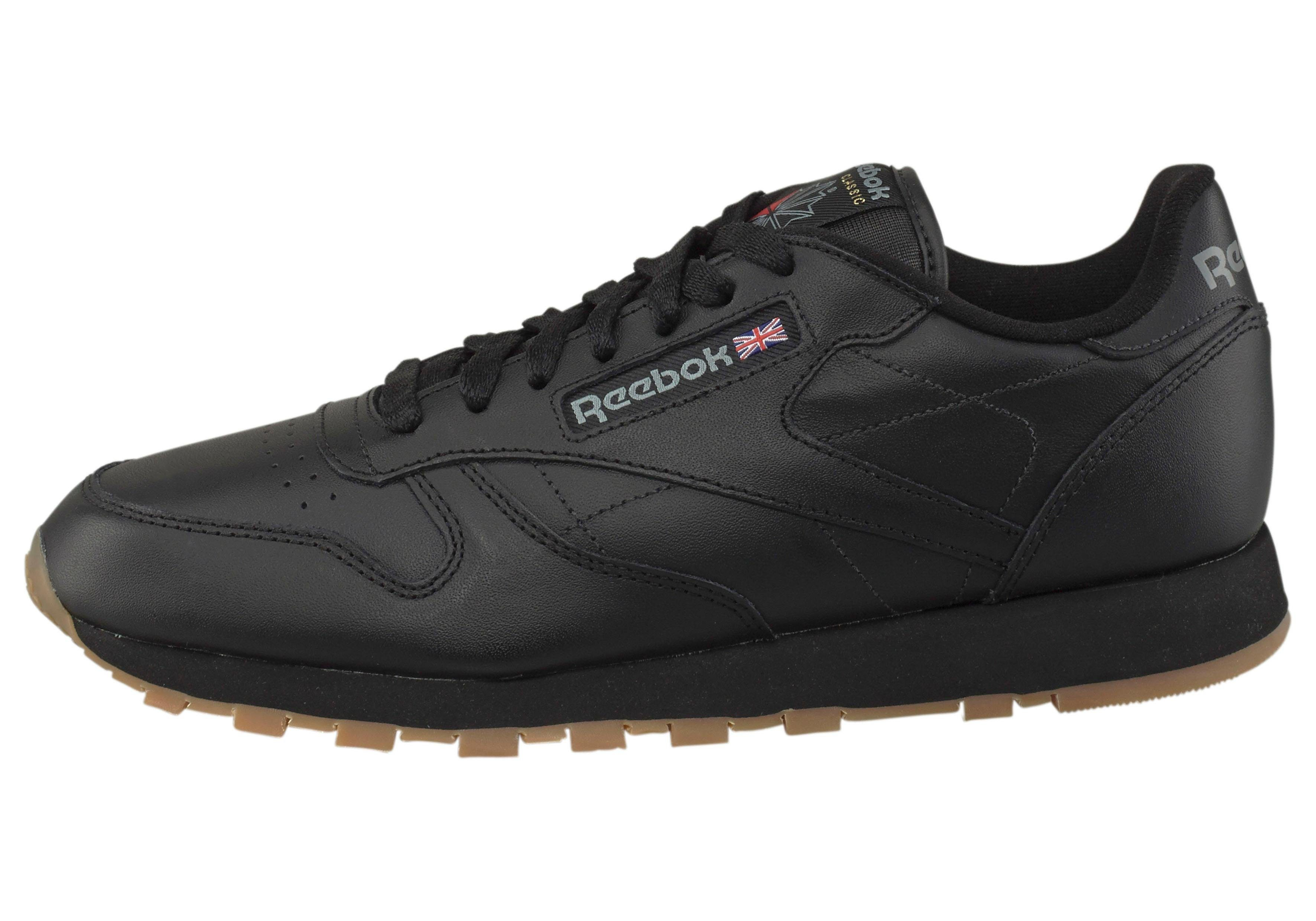 Reebok Dames Classic Leather Zwart Schoenen kopen
