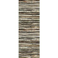 queence vinylbehang »faustus«, 90 x 250 cm, zelfklevend bruin