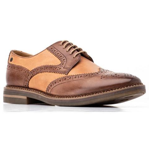 Base London schoenen met budapest-perforatie Dante