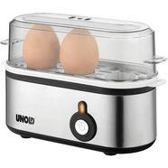 unold eierkoker mini 38610, aantal eieren: 3, 210 watt zilver