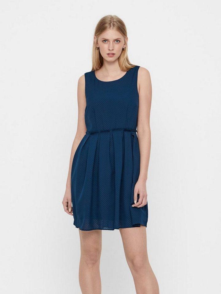 Vero Moda Ronde hals Mouwloze jurk blauw