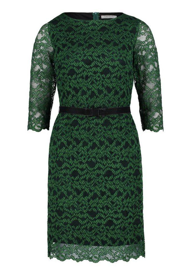 Betty Barclay kanten jurk dark fir green - groene