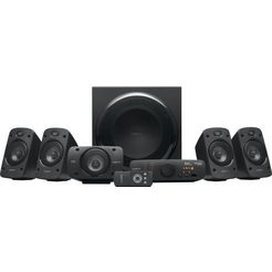 logitech »z906 surround sound« 5.1-luidsprekersysteem (500 watt) zwart