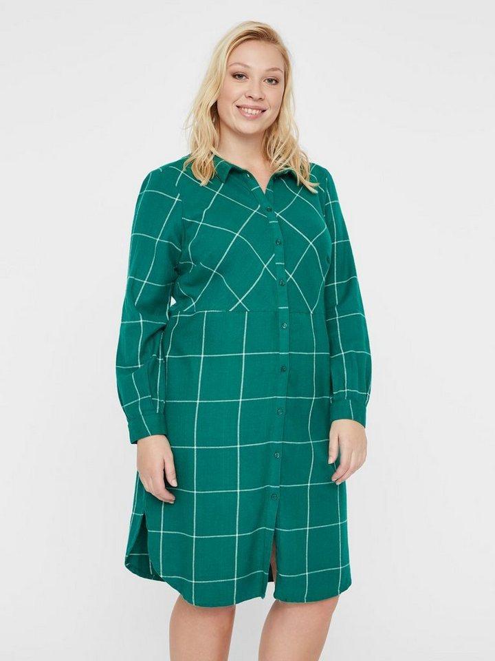 Junarose Geruite blouse jurk groen